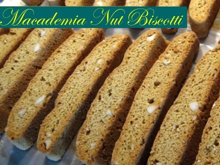 macadamia nut biscotti