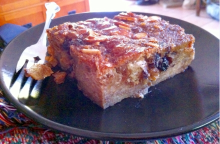 This is a sweeter and a more dense bread pudding! (Laura's Favorite!